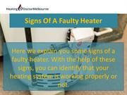 Signs Of A Faulty Heater