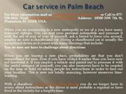Car service in Palm Beach