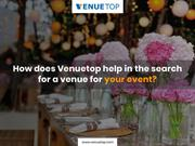 How does Venuetop help in the search for a venue for your event?