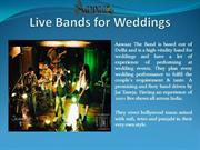 Live Bands for Weddings