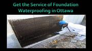 foundation waterproofing ottawa