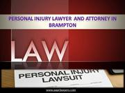 Personal Injury Lawyer  And Attorney In Brampton