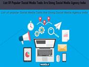List Of Popular Social Media Tools Are Using Social Media Agency India