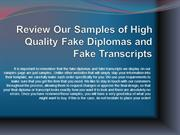 Review Our Samples of High Quality Fake Diplomas and Fake Transcripts