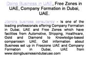 Doing Business in UAE, Free Zones in UAE