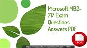 Microsoft  MB2-717 Test Dump Question & Answers.