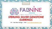 Sterling-Silver-Gemstone-Earrings
