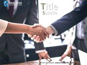 Shaking Hand PowerPoint Template