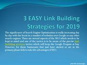 3 EASY Link Building Strategies for 2019