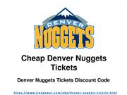 Cheap Denver Nuggets Tickets