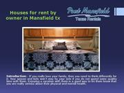 Houses for rent by owner in Mansfield tx