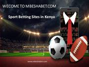 Sport Betting Sites in Kenya