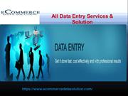 Outsource Data Entry Services Company – Ecommercedatasolution.com