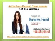 Aol Support Number +44 845 528 0235