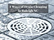 4 Ways of Drain Cleaning in Raleigh NC by Emergency Plumbing Cary