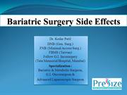 Bariatric Surgery Side Effects ppt