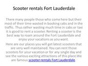 Scooter rentals Fort Lauderdale