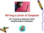 writing letter of complaint