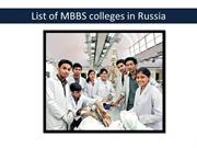 List of MBBS colleges in Russia
