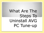 Learn How to Uninstall AVG PC Tuneup