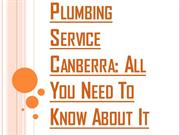 Plumbing Service Canberra For Both Commercial and Industrial Purpose