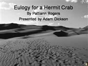 Eulogy for a Hermit Crab3
