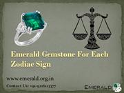 Emerald Gemstone For Each Zodiac Sign