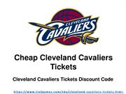 Cleveland Cavaliers Tickets Cheap