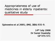 Appropriateness of use of medicines in e