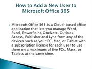 How to Add a New User to Microsoft Office 365
