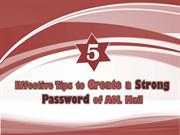 Tips to Create a Strong Password of AOL Mail