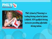 Pass Plus Sutton Coldfield - Phil's School of Motoring