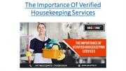 The importance of Verified Housekeeping Services | Securise Services