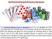 Spy Cheating Playing Cards Device in Bangalore 9999994242