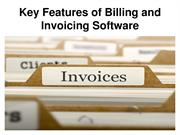 Key Features of Billing and Invoicing Software