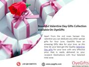 Beautiful Valentine Day Gifts Collection available On OyeGifts
