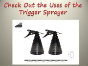 Check Out the Uses of the Trigger Sprayer