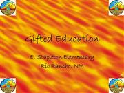 Gifted Education in New Mexico