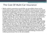 The Cost Of Multi Car Insurance