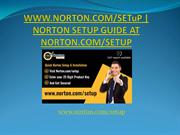 WWW.NORTON.COM/SETuP | NORTON SETUP GUIDE AT NORTON.COM/SETUP
