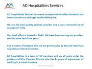 AD Hospitalities Services New PPT