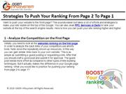 Strategies To Push Your Ranking From Page 2 To Page 1