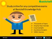 Prepare for Competitive Exams at Basictell Knowledge Hub