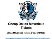 Get Your Dallas Mavericks Tickets