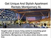 Get Unique And Stylish  Apartment Rentals Montgomery AL
