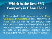 Which is the Best SEO Company in Ghaziabad