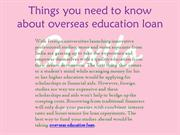 Things you need to know about overseas education