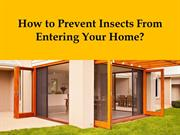 How to Prevent Insects from Entering Your Home?
