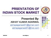 PRSENTATION OF share market