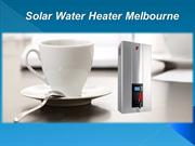 Solar Water Heater Melbourne